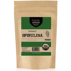Herb Affair Organic Spirulina Powder, One Pound (1 LB.) Package