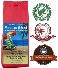 Aloha Island Coffee, Paradise Blend, Riptide! Espresso Roast Ground Coffee