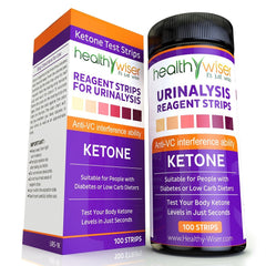 Ketone Strips 100ct, Professional Grade Ketone Urine Test Strips. 99% Accuracy
