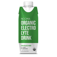 NOOMA Organic Electrolyte Drink - Chocolate Mint, 16.9 oz, Pack of 12