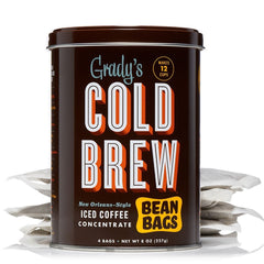 Grady's Cold Brew Coffee Concentrate Bean Bags Can