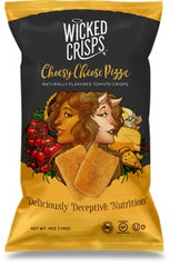 Wicked Crisps Cheesy Cheese Pizza baked tomato crisps 4-4oz bags