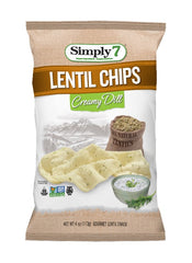 Simply7 Lentil Chips Creamy Dill - 4oz
