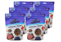 6-Pack Pets TurboPup Roast Beef & Blueberry Treats for Dogs 36oz
