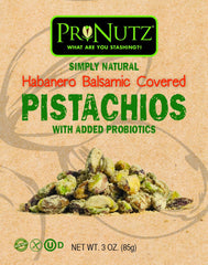 Pronutz Habanero Seasoned Pistachios With Added Probiotics