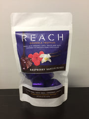 Reach Organics - Family Share Pack - 8 Individually Wrapped Truffles - Raspberry Vanilla Burst