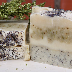 Mint and Poppy Seed Bar Soap
