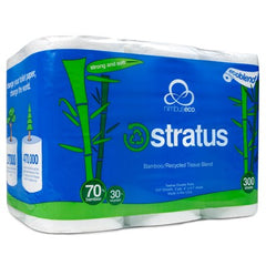 Stratus Bamboo Toilet Paper by Nimbus Eco (12 pack)