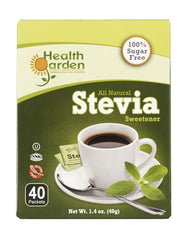 Health Garden All Natural Stevia Sweetener 40 Packets  4 pack