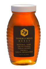 Desert Creek Honey Raw, Unfiltered, Unpasteurized American Honey, 1 lb in Glass Jar
