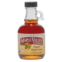 Maple Valley 8 oz Grade A Dark & Robust Organic Maple Syrup - 6 PACK