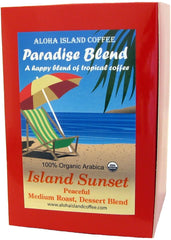 Aloha Island Coffee, Paradise Blend, Island Sunset 18 ct. Coffee Pods