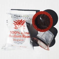 100% Kona Coffee Pods for 1.0 & 2.0 Single Serve Brewers
