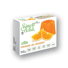 Simply Delish Natural Orange Jel Dessert, Sugar free, 0.7 oz