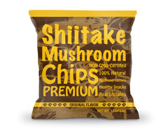 Yuguo Farms Shiitake Mushroom Chips, 1.5 oz, 12 pack, Original Flavor