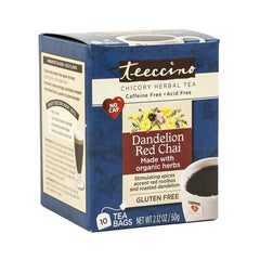 Dandelion Red Chai Tea Bag 10 Ct