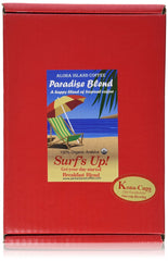 Aloha Island Coffee, Paradise Blend, Surf's Up! Breakfast Blend, Box of 12 Kona-Cups