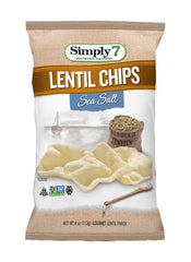 Simply7 Lentil Chips Sea Salt - 4oz