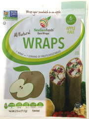 Apple Kale GemWraps - Sandwich wraps made from Apples.  Wrap your sandwich in an apple! 6 GemWraps in pkg.