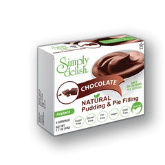 Simply Delish Natural Chocolate Pudding Dessert, Sugar free, 1.6oz