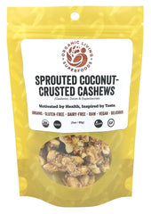 Organic Raw Sprouted Coconut-Crusted Cashews