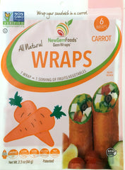 Carrot GemWraps - Sandwich wraps made from Carrots.  Wrap your sandwich in a carrot! 6 GemWraps in pkg.