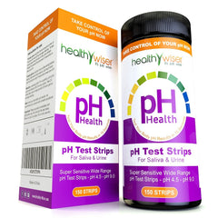 pH Test Strips 150ct - Tests Body pH Levels for Alkaline & Acid levels Using Saliva and Urine. Track and Monitor Your pH Balance & A Healthy Diet, Get Accurate Results in Seconds. pH Scale 4.5-9