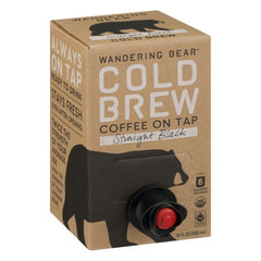 Wandering Bear Cold Brew Coffee, Straight Black, 6-serving Box (36oz)