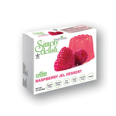 Simply delish Natural, Sugar free Raspberry Jel Dessert, 0.7 ounce
