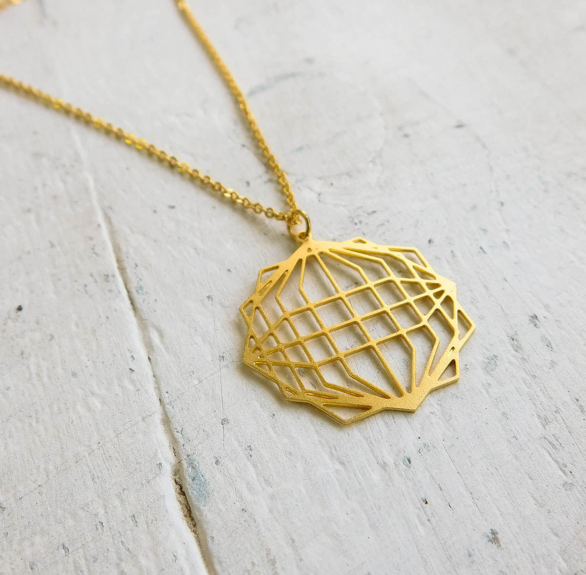 Geometric Globe Necklace