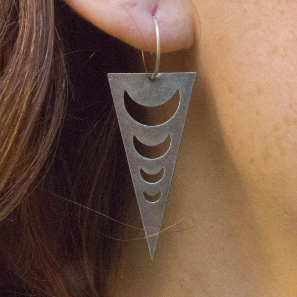 Moon Triangle Earrings