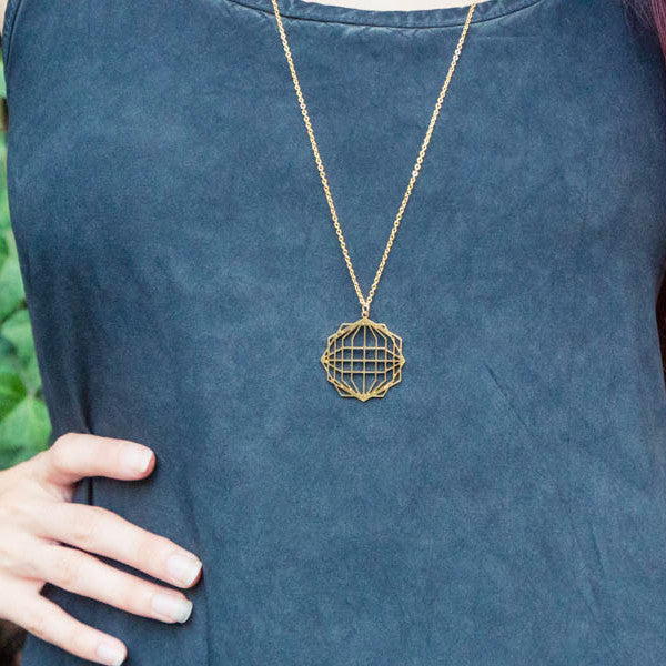 Globe 3D effect Necklace