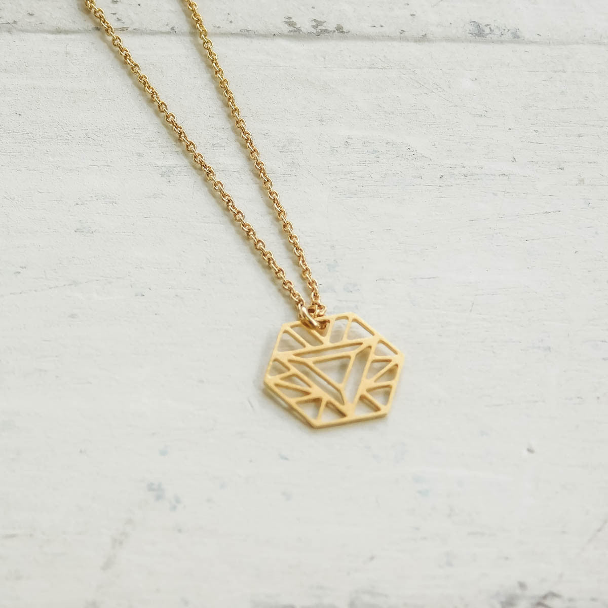 Hexagon S Necklace