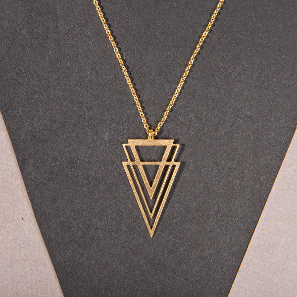 Chevron V Necklace