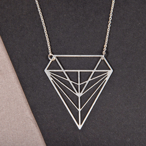 Diamond Geometric Necklace