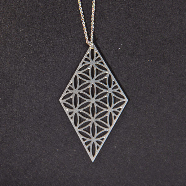Diamond of life Vertical Necklace