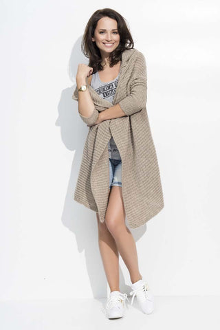 Cappuccino Long Hooded Sweater