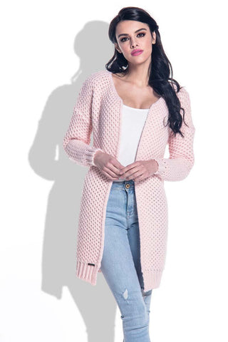 Pink Reglan Sleeves Open Cardigan
