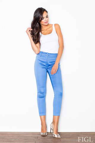 Blue Classic Slim Tailored Cigarette Trousers