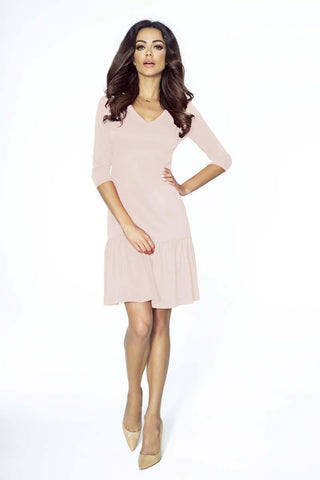 Pink Comfy Dress with a Frill