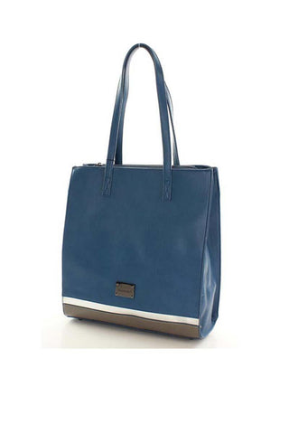 Blue Shoulder Straps City Style Ladies Bag