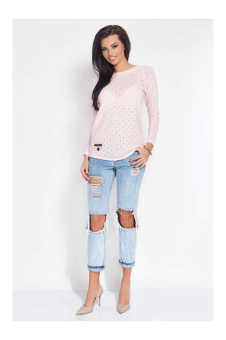 Light Pink Ajure Light Sweater