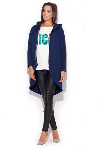 Dark Blue Comfy Dweller Sweater Hoodie Blouse