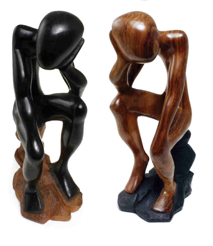 Thinker Statue On Stool