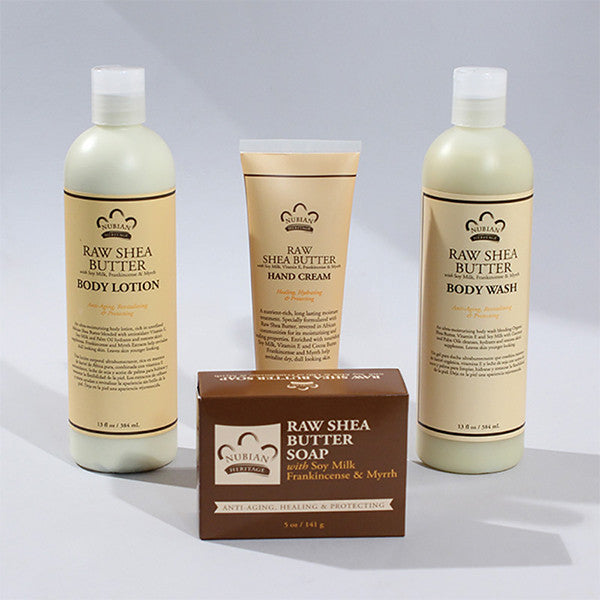 Nubian Heritage Raw Shea Butter Bath Kit