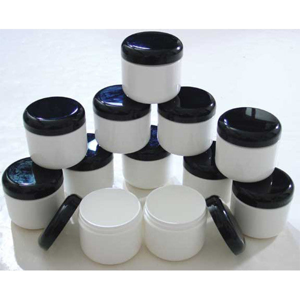 Set Of 12 Plastic Double Wall Jars - 4oz