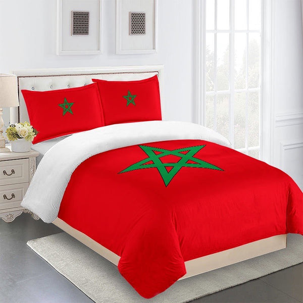 Best Seller Moorish Duvet Cover Set-Three Piece-African American Flag-King Size-NOT A COMFORTER SET