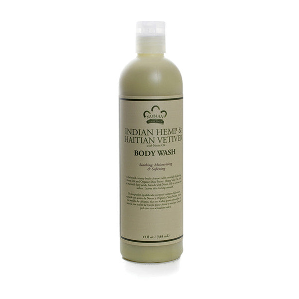 Indian Hemp & Vetiver Body Wash - 13 oz.