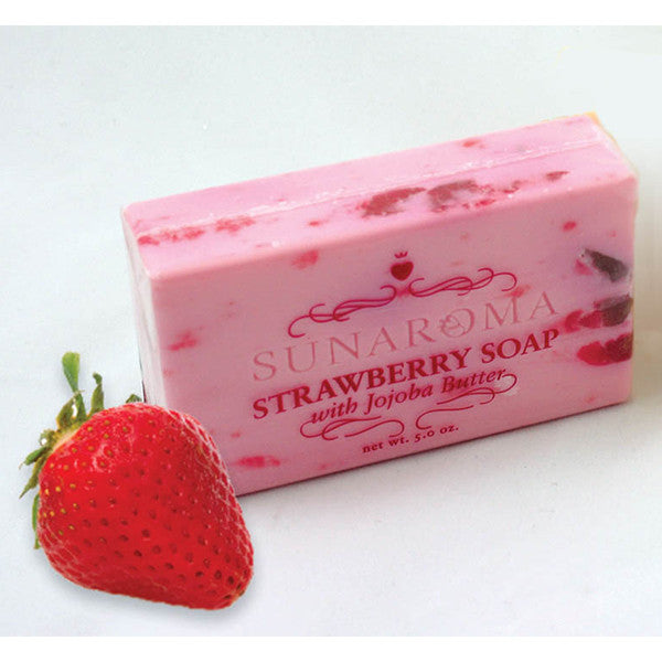 Strawberry Soap w/Jojoba Butter - 5 oz.