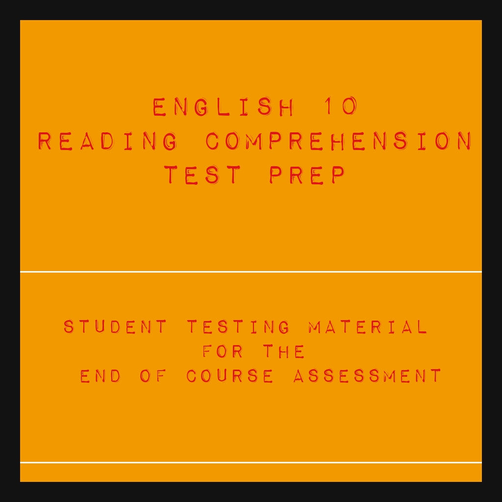 English 10 Reading Comprehension Packet